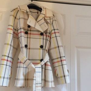 Authentic LIMITED EDITION coach plaid trench coat